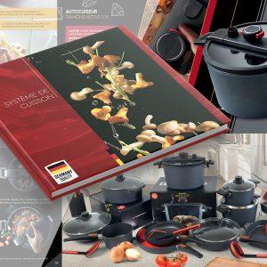 Brochure pour une Batterie de cuisine WOLL.