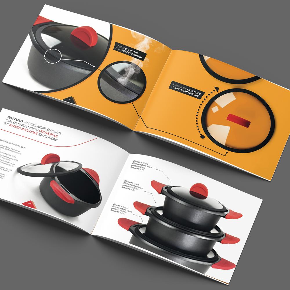 Brochure pour une Batterie de cuisine CASTEY.